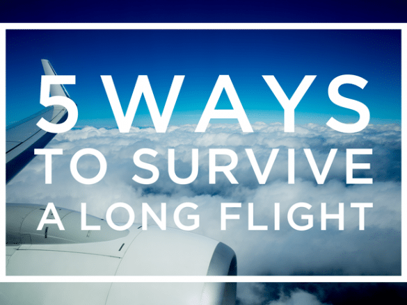 Five ways to survive a long flight