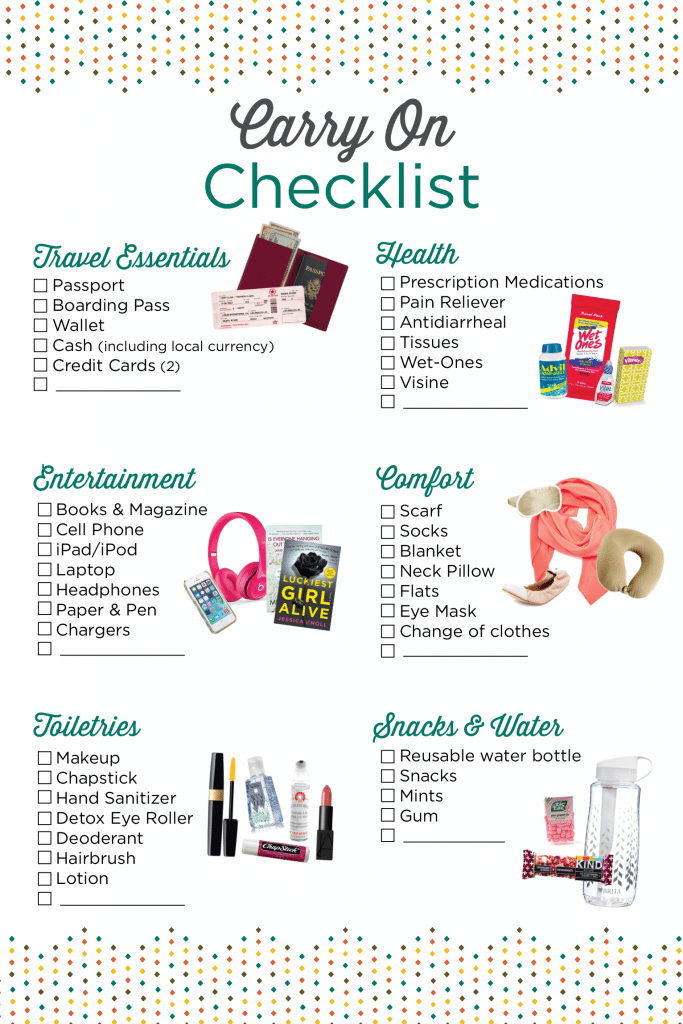 Carry-on-checklist