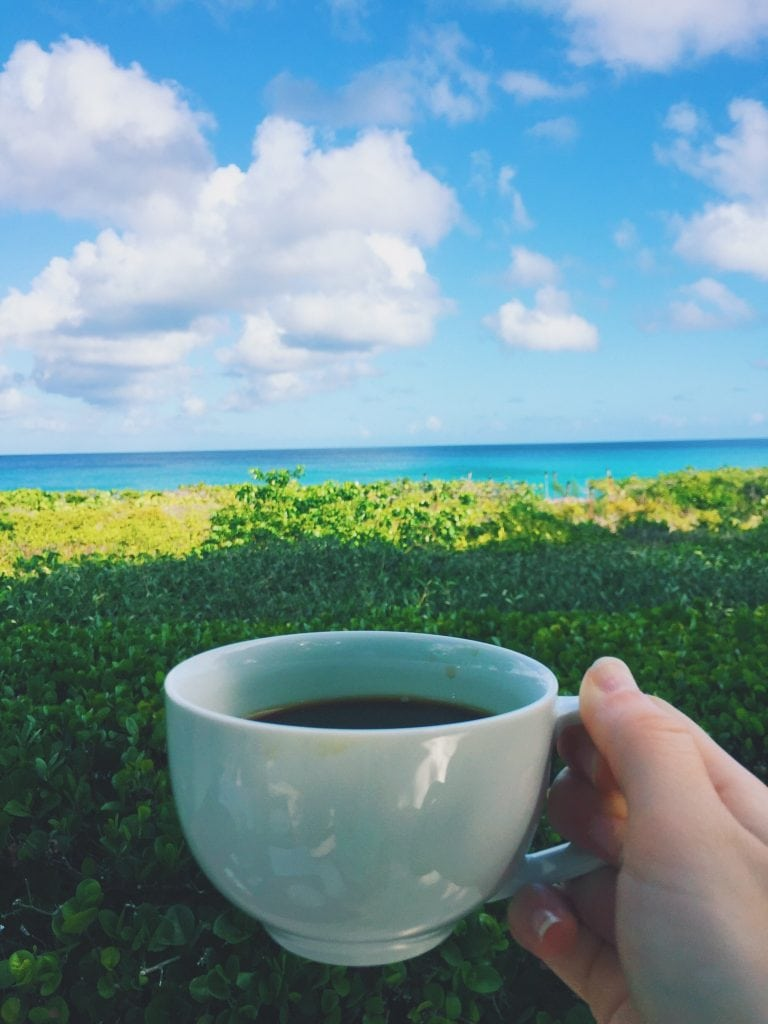 (Complimentary) breakfast with a view in Turks & Caicos.