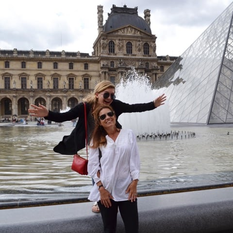 Michelle with her daughter in Paris.
