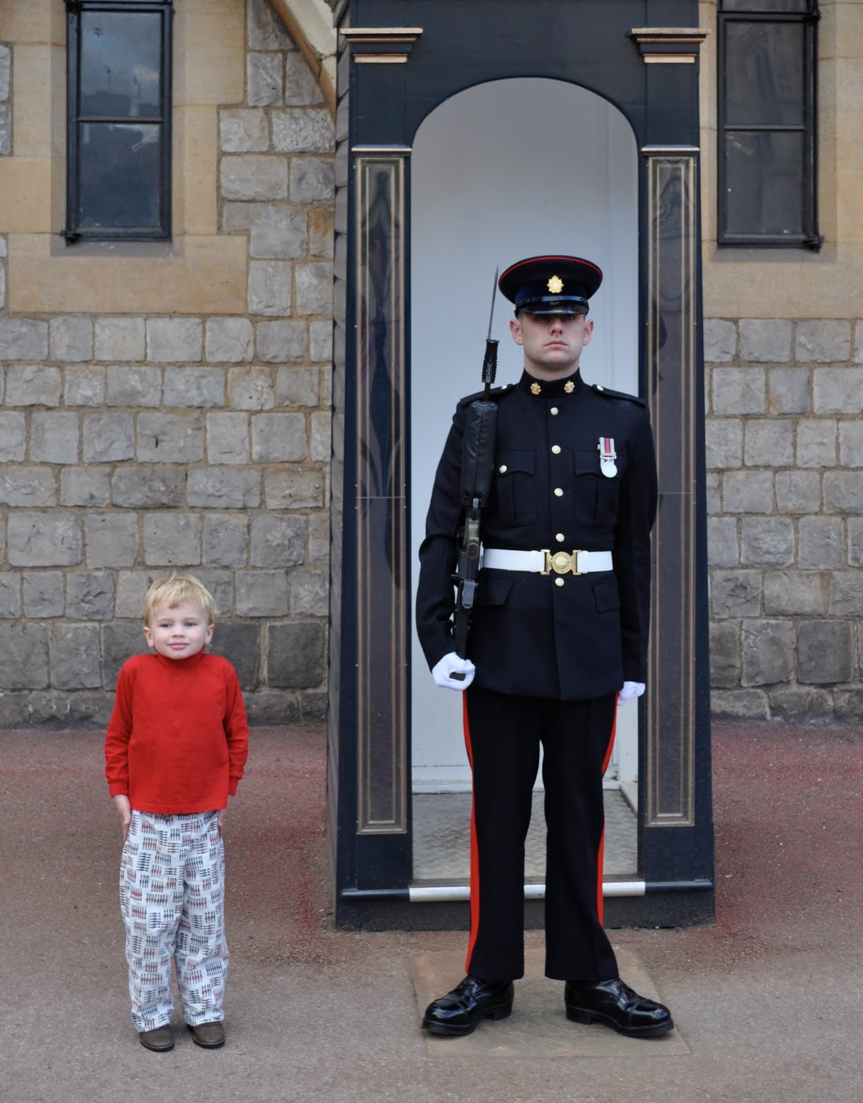 Little ones love the guards in London.