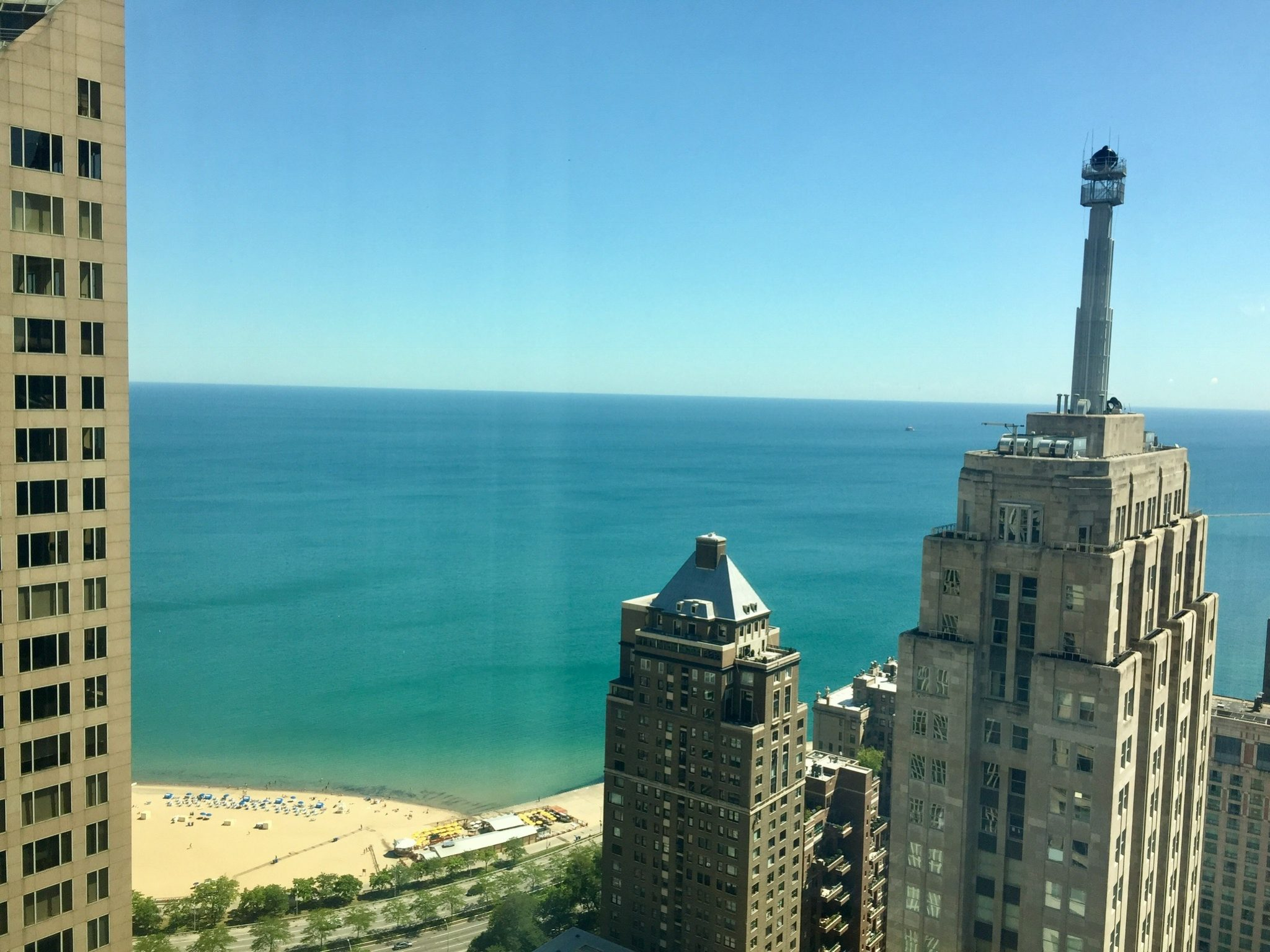 Amazing view at the Four Seasons Chicago.