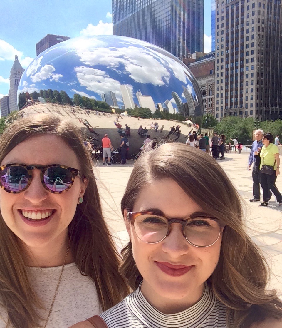 Holly and Travel Coordinator Janet Matheson in Chicago