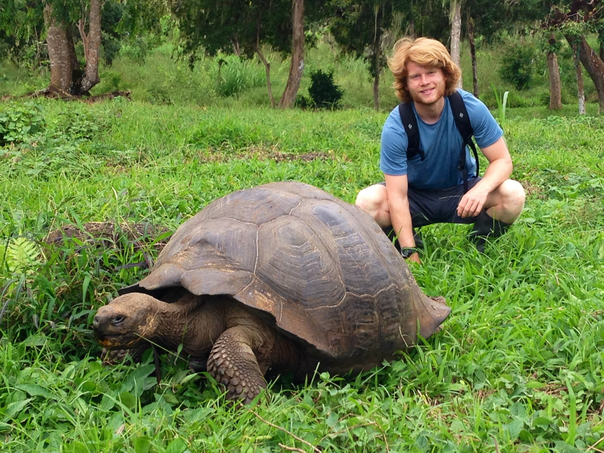 Brownell Independent Advisor Martha Rhodes' son in the Galapagos.
