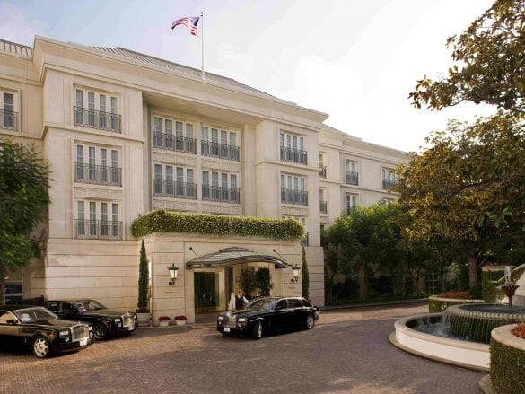 Peninsula Beverly Hills Front Entrance