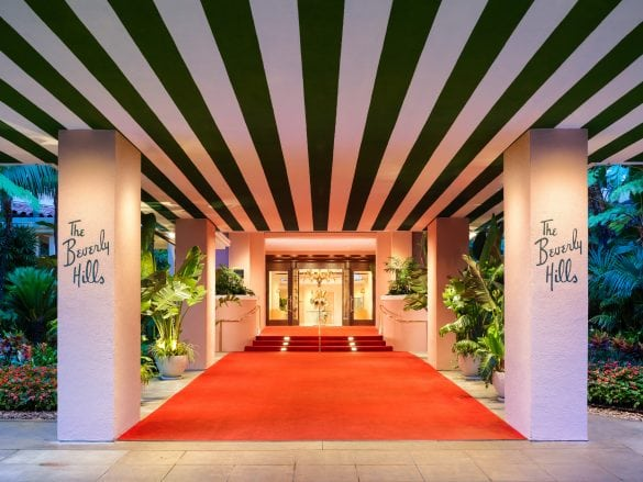 The Beverly Hills Hotel Entrance